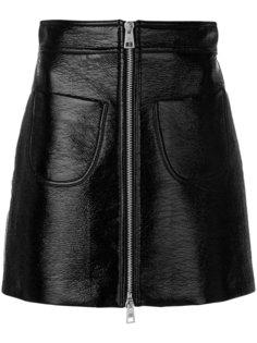 лакированная А-образная юбка  Sara Battaglia