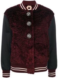 куртка-бомбер с декорированными пуговицами Nº21