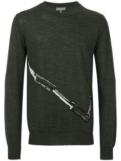 свитер с принтом Lanvin