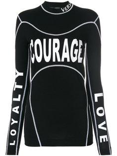 топ Courage Loyalty Love Versace
