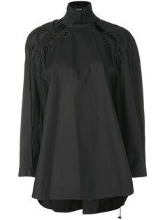cutout detail Railroad shirt Ellery