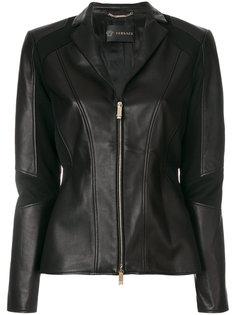 байкерская куртка с панельным дизайном Versace