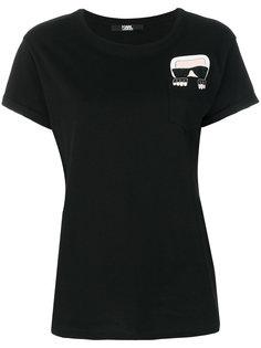 футболка с принтом на кармане Karl Lagerfeld