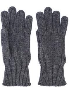 перчатки с логотипом Moncler