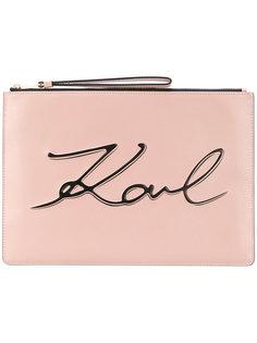 клатч с логотипом Karl Lagerfeld
