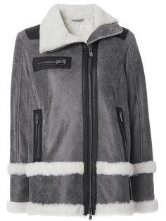куртка на молнии с мехом ягненка Drome