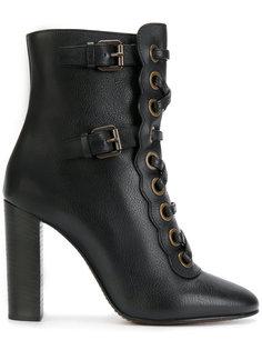 ботинки на каблуке и шнуровке Chloé