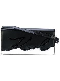 сумка на плечо с тиснением логотипа Karl Lagerfeld
