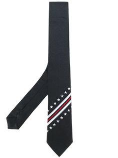 галстук с контрастными полосками Givenchy