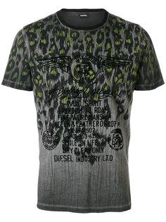 футболка с принтом Diesel