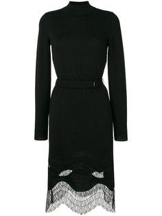 платье-водолазка с кружевной отделкой  Nina Ricci