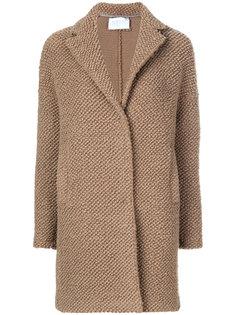 фактурное однобортное пальто  Harris Wharf London