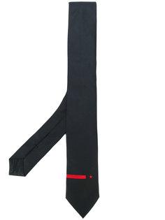 галстук с контрастной полоской и звездой Givenchy
