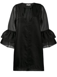 платье Seneca с рукавами-колокол Ganni