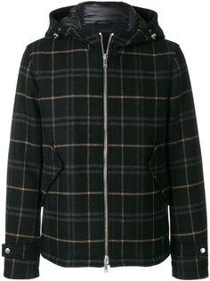 куртка с капюшоном в клетку Dondup