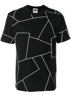 футболка с геометрическим принтом Les Hommes Urban