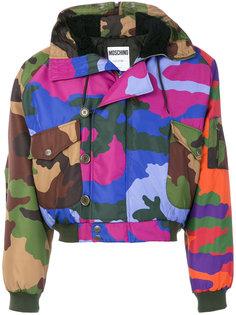 камуфляжная куртка с капюшоном Moschino