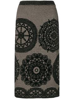 юбка-карандаш с цветочным узором  M Missoni
