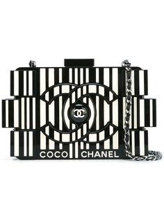 полосатый клатч с логотипом Chanel Vintage