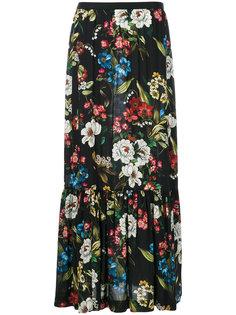 длинная юбка с цветочным принтом IM Isola Marras