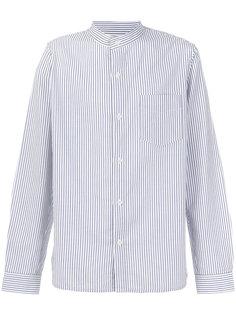 полосатая рубашка с воротником-стойкой A.P.C.