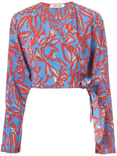 блузка с цветочным узором Diane Von Furstenberg