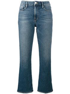 укороченные джинсы клеш  Frame Denim