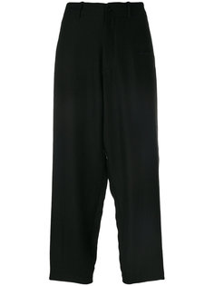 строгие брюки с заниженным шаговым швом  Ys Y`s
