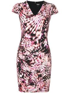 приталенное платье с V-образным вырезом  Just Cavalli