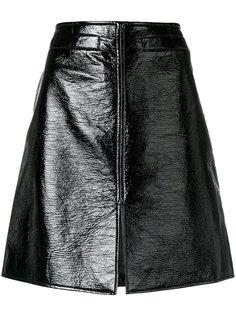 лакированная А-образная юбка Courrèges