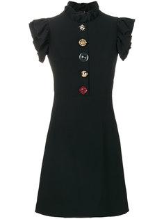 платье с декоративными пуговицами  Dolce & Gabbana