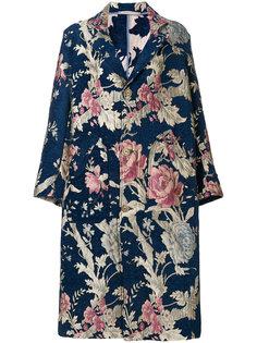свободное жаккардовое пальто с цветочным узором  Ermanno Gallamini