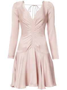 мини платье со сборкой спереди Zimmermann