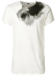 футболка с эффектом пятна от краски Ann Demeulemeester