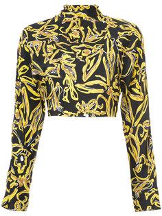 укороченный топ с цветочным узором Diane Von Furstenberg