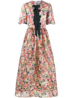 платье с бантами Seneca Ganni
