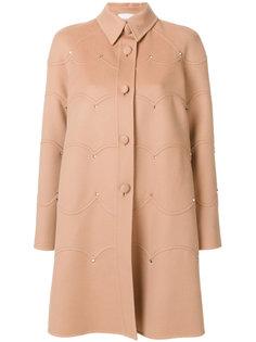 однобортное пальто Rockstud Valentino