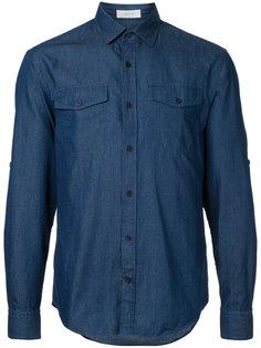 джинсовая рубашка с накладными карманами Cerruti 1881
