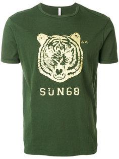 футболка с принтом тигра Sun 68