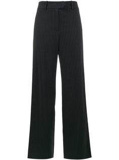 широкие брюки с блестящую полоску  Mira Mikati
