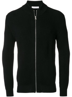 ribbed zip cardigan Lucio Vanotti