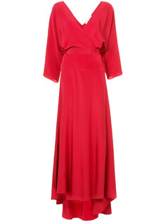 платье макси с запахом и длинными рукавами Diane Von Furstenberg