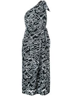 платье с принтом на одно плечо Diane Von Furstenberg