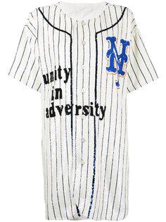 свободное платье в стиле бейсбольной футболки Ashish