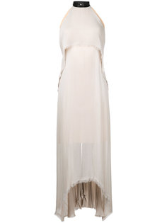 halterneck draped dress Kitx
