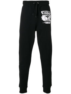 спортивные брюки с принтом-логотипом Moschino