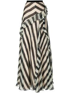 полосатая юбка Alberta Ferretti