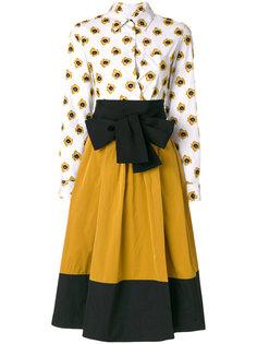 расклешенное платье со вставкой  Sara Roka