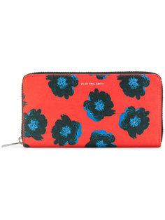 кошелек на молнии с цветочным принтом Ps By Paul Smith