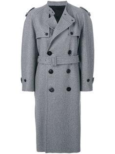 двубортное пальто-тренч Neil Barrett